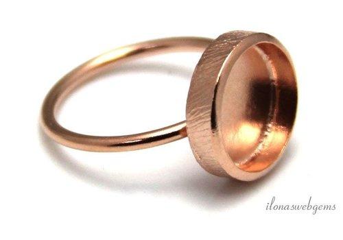 Rosé vermeil ring voor cabochon 12mm