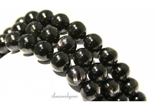 Hyperstene beads around 10mm A quality