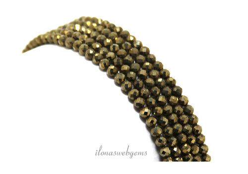 Pyrite beads mini faceted around 3mm