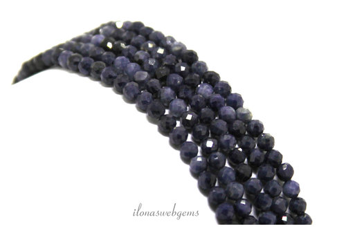 Sapphire beads mini faceted around 2mm