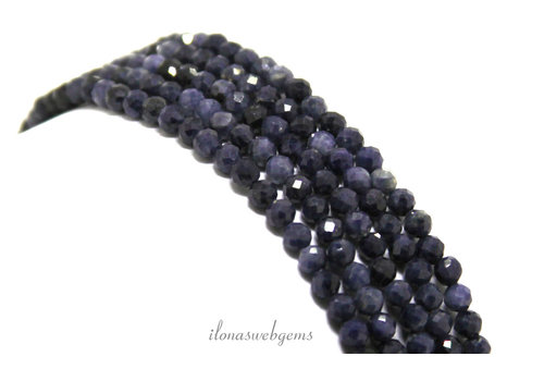 Sapphire beads mini faceted around 3mm