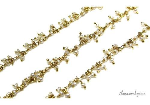 20 cm Vermeil-Halskette mit Süßwasserperlen