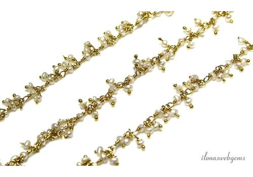 20 cm vermeil necklace with Freshwater Pearl Beads