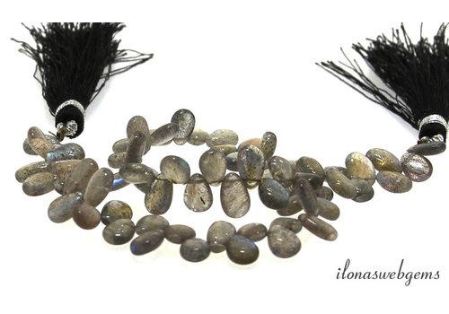 Labradorite droplets around 8x6x3mm