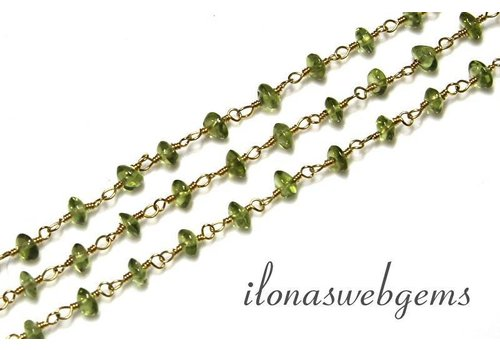 20 cm vermeil necklace with beads Peridot