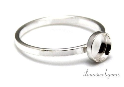 Sterling silver ring for cabochon 4mm