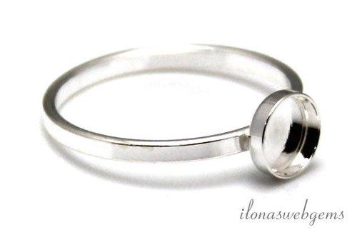 Sterling zilveren ring voor cabochon 4mm