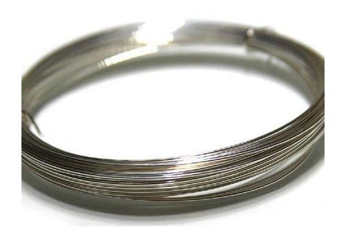 15x 1 meter sterling zilverdraad 0.6mm
