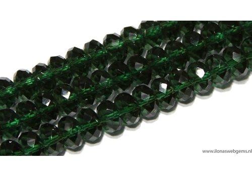 Hydro Quarzt facettierte Perlen rund um 8x5mm