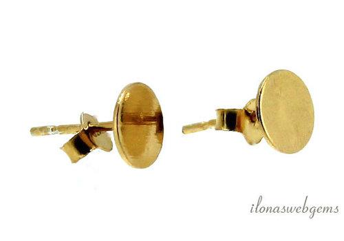 1 Paar Vermeil-Ohrstecker, ca. 7 mm