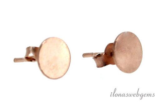 29 pairs of Stud Earrings Vermeil Rosé around 7mm