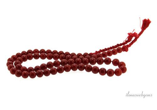 Red coral 'Corallium Rubrum' around 7mm