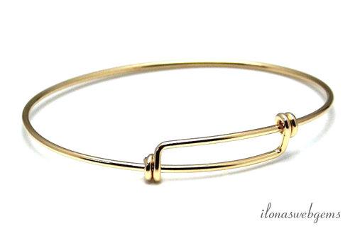 14 Karat / 20 Gold gefülltes Armband um 60x1,6 mm