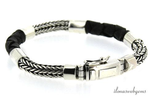 Sterling silver men's bracelet Buddha to Buddha style