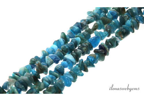 Neon Apatite beads split around 5-7mm