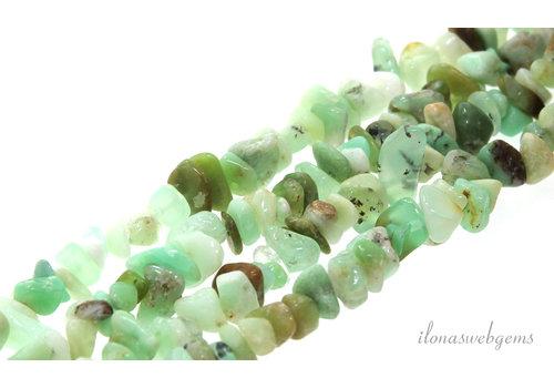 Chrysoprase beads split around 5-7mm