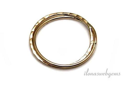 14k/20 Gold filled gesloten oog/ring ca. 13 mm