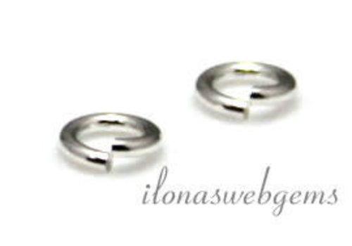 1 x Silver filled oogje open ca. 4 mm