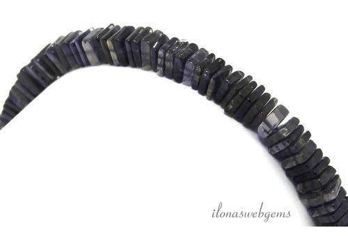 iolite square disc beads around 4x1mm