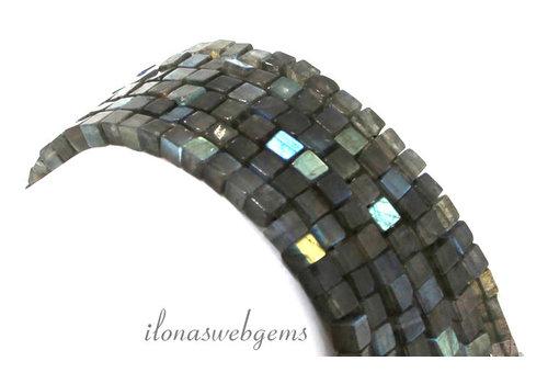 Labradorite cube beads around 4.5mm