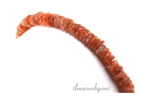 Sunstone beads around 7x2mm