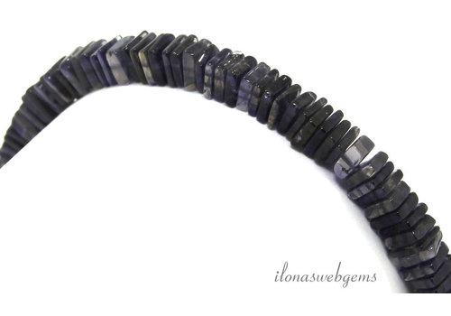 iolite square disc beads around 5.5x1mm