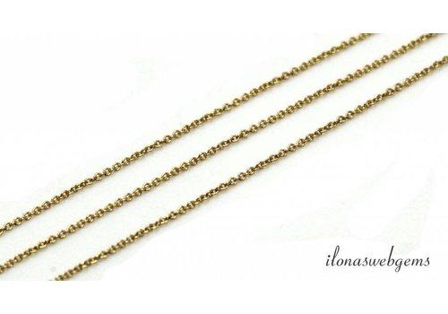 47cm 14k / 20 Gold gefüllte Glieder / Kette 1,2mm