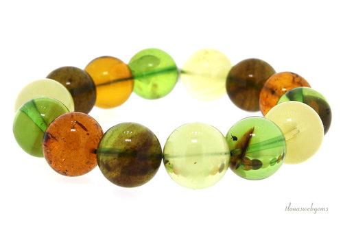 Caribbean green Amber / Barnsteen armband