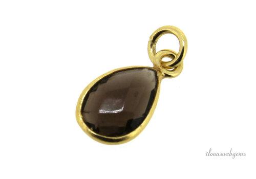 Vermeil pendant with smoky quartz