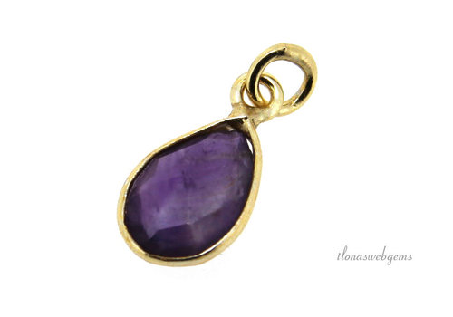 Vermeil pendant with amethyst