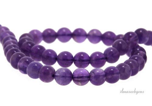 Amethyst beads around 6 mm
