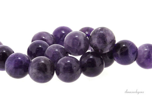 Amethyst beads around 18 mm