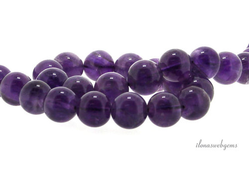 Amethyst beads around 12 mm