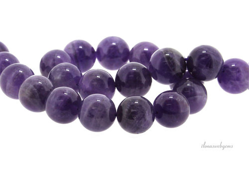 Amethyst beads around 14 mm