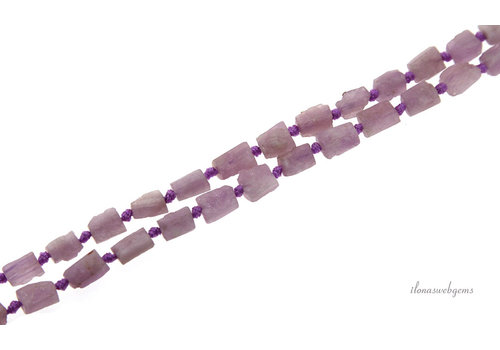 Kunzit Perlen grobe Würfel um 8x6mm