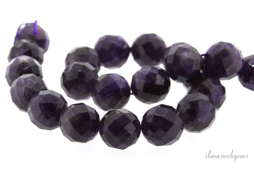 Amethyst beads large facet around 16 mm