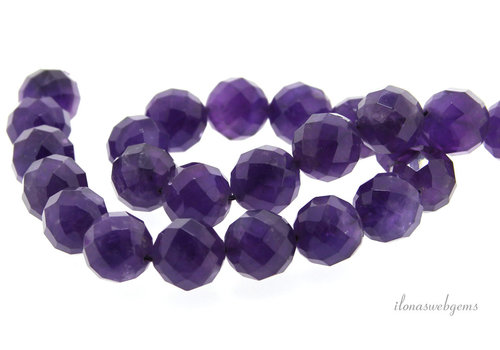 Amethyst Perlen große Facette um 14mm