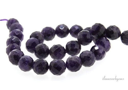 Amethyst Perlen groß facettiert um 12mm