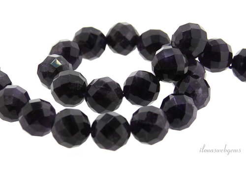 Amethyst beads large facet around 14mm