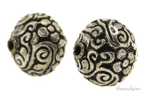 Silver Tibetan Repousse bead