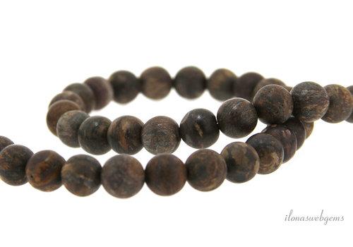 Bronzite beads matt around 8.5mm