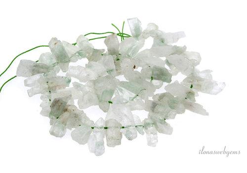 Amethyst Prasiolite beads around 23x12x7mm