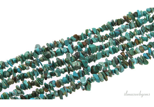 Turquoise beads split fine around 3-5mm