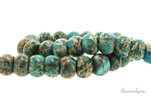 Imperial Jasper beads rondelle around 15x10mm