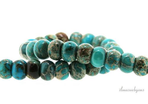 Serpentine beads rondel around 15x10mm