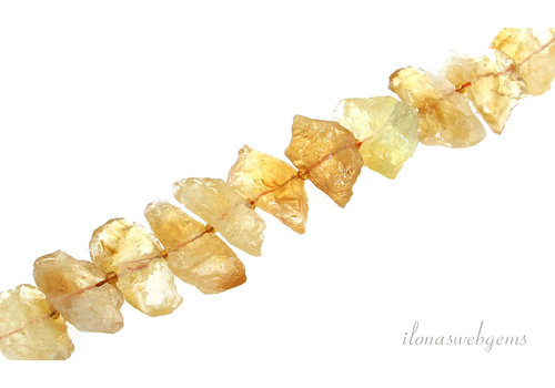 Citrine beads roughly around 32x18x12mm