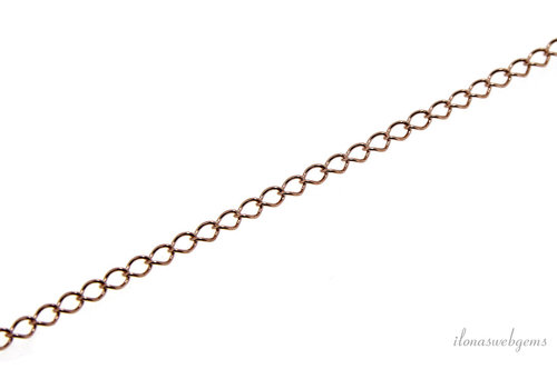 1 cm Rosé vermeil ketting / schakels (verleng)