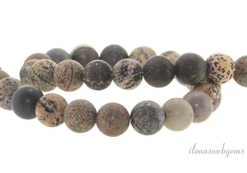 Artic Jaspis kralen mat rond ca. 8mm