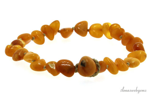 Amber / Amber childrens bracelet around 10x5mm