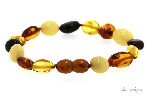 Amber / Amber childrens bracelet around 12x8mm